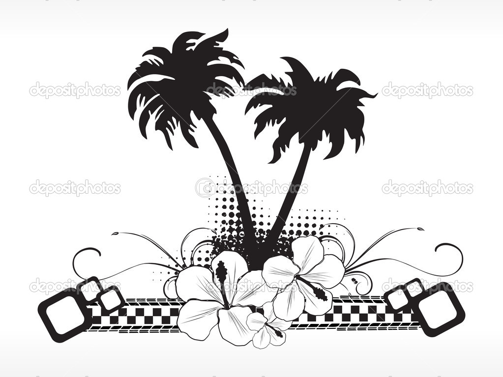 Black And White Banner Vector Banner Black And White Summer