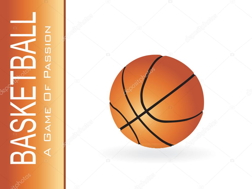 Basketball isolated on white — Stock Vector #2362638