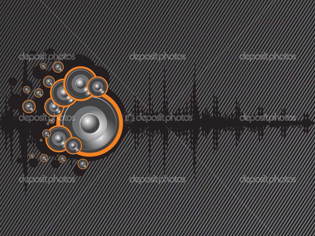 Beautiful background of speaker and graph, texture  Stock Vector #2363123