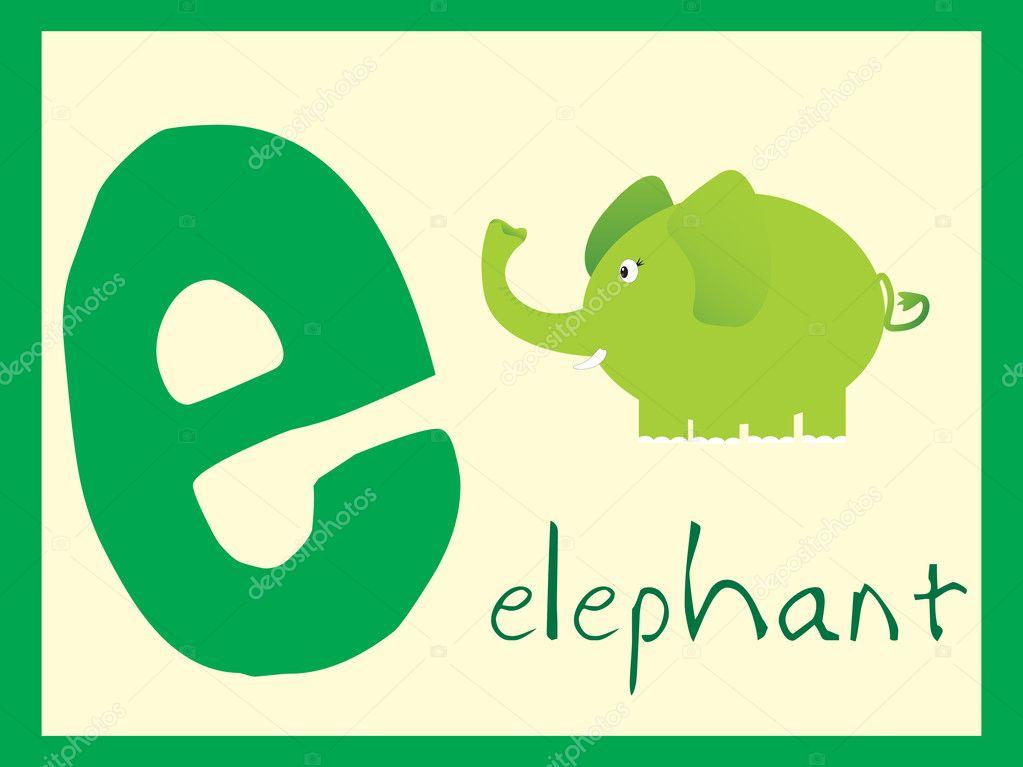 Alphabet series e illustration stock illustration
