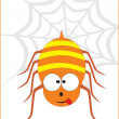 Cute spider illustration — Stock Vector