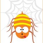 Cute spider illustration — Stock Vector