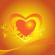 Royalty-Free Stock Vector Image: Beautiful love theme wallpaper