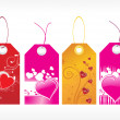 Beautiful tags with love set 8 — Stock Vector