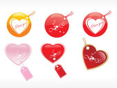 Beautiful tags with love set 20 — Stock Vector