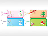 Beautiful vector christmas tags set 4 — Stock Vector