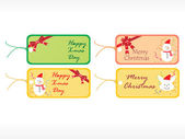 Beautiful vector christmas tags set 2 — Stock Vector
