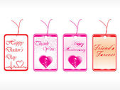 Beautiful tags with love set 14 — Stock Vector