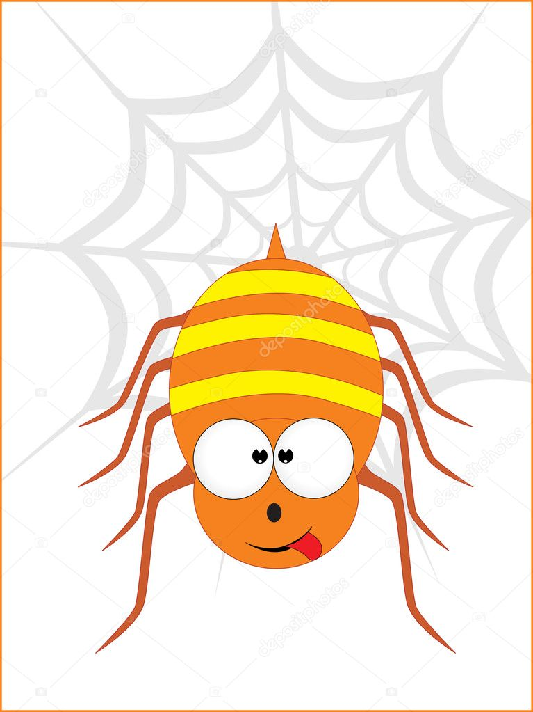 Abstract background with cute spider — Stock Vector #2375944