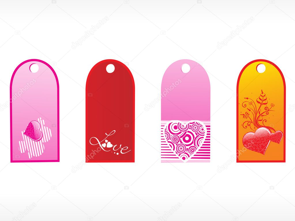 Beautiful tags with love set 3  Stock Vector #2376917