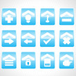 Blue icons for multiple use — Grafika wektorowa