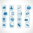 Royalty-Free Stock Vector Image: Blue icons set for website