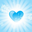 Heart on blue background — Stock Vector #2414690