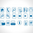 Blue icons vector — Stock Vector
