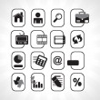 Royalty-Free Stock Vector Image: Black icons set for website