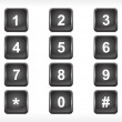 Royalty-Free Stock Vector Image: Black squire number set