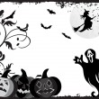 Grunge frame with halloween background - Image vectorielle