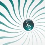 fundo musical com notas musicais — Vetorial Stock