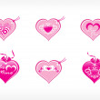 Beautifull tag with romantic heart — Image vectorielle