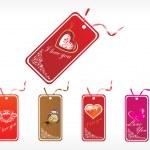 Beautifull tag with romantic heart — Stock Vector #2417084
