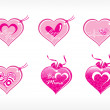 Royalty-Free Stock Imagen vectorial: Beautifull tag with romantic heart