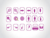 Beautiful web icons, purple — Stock Vector