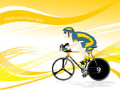 Bicyclist vector, wallpaper — Stockvektor