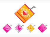 Romantic tag with heart — Stock Vector