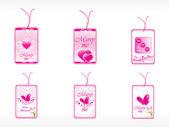 Beautifull tag with romantic heart — Stock Vector