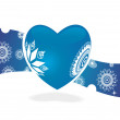 Blue retro heart for sample text - Stockvectorbeeld