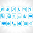 Blue vector icons — Stock Vector