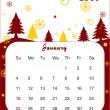 Stock Vector: Calendar for 2009
