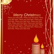 Pretty red background christmas card — Stockvektor