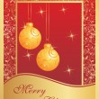 Illustration of Christmas card - Imagen vectorial