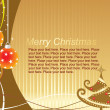 Royalty-Free Stock Imagem Vetorial: Christmas card composition
