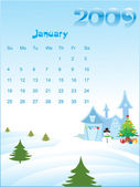 Calendar for 2009 — Stock Vector