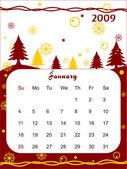 Calendario per il 2009 — Vettoriale Stock