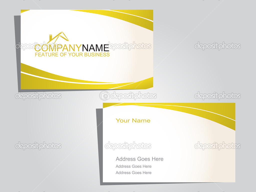 Business card in white and green  Image vectorielle #2428519