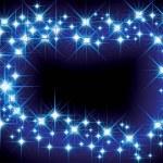 Christmas blue light frame — Stock Vector #2430438