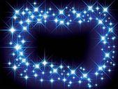Christmas blue light frame — Stock Vector
