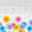 Beautiful calender for 2010 — Stock Vector