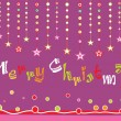 Background with hanging stars — Imagen vectorial
