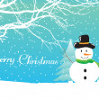 Royalty-Free Stock Vector Image: Christmas background with snowman