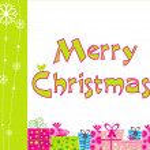 Merry christmas day card — Stock Vector