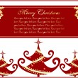 Merry christmas day greeting card — Stock Vector