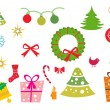 Royalty-Free Stock Vector Image: Background with xmas icons
