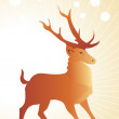 Background with reindeer — Stock Vector