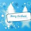 Funny merry christmas background — Stock Vector