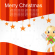 Merry christmas background with cupid — Stock Vector #2443030