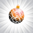 Stock Vector: Isolated ball with christmas day